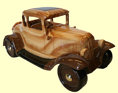 wooden 1930 Ford coupe